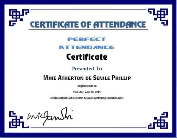 6+ Certificate Of Attendance Templates - Website, Wordpress, Blog