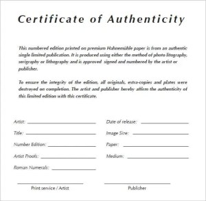 Free certificate of authenticity template in word archives certificate of authenticity templates yelopaper Gallery