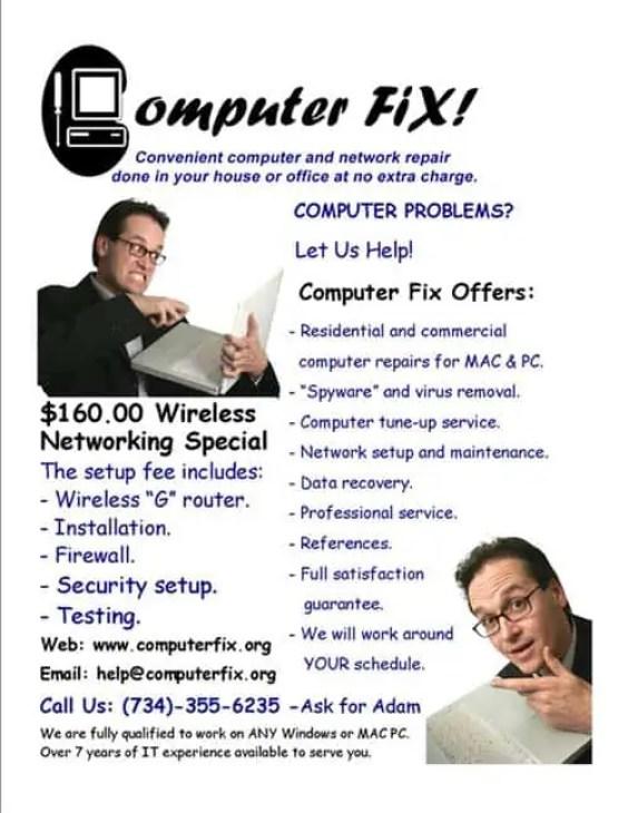 computer repair flyer 97