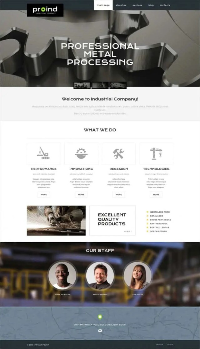dynamic website template 441