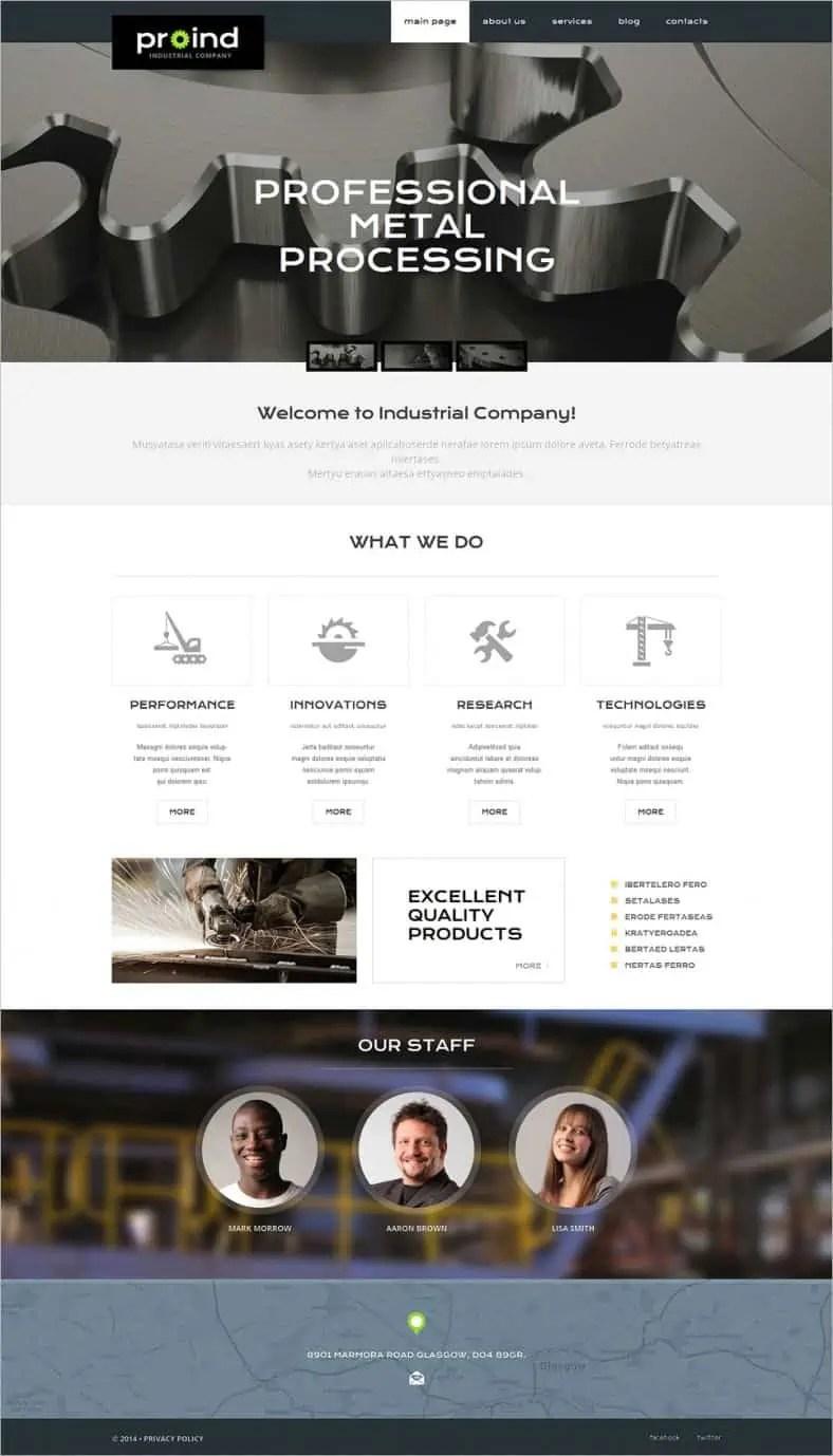 dynamic website template 441