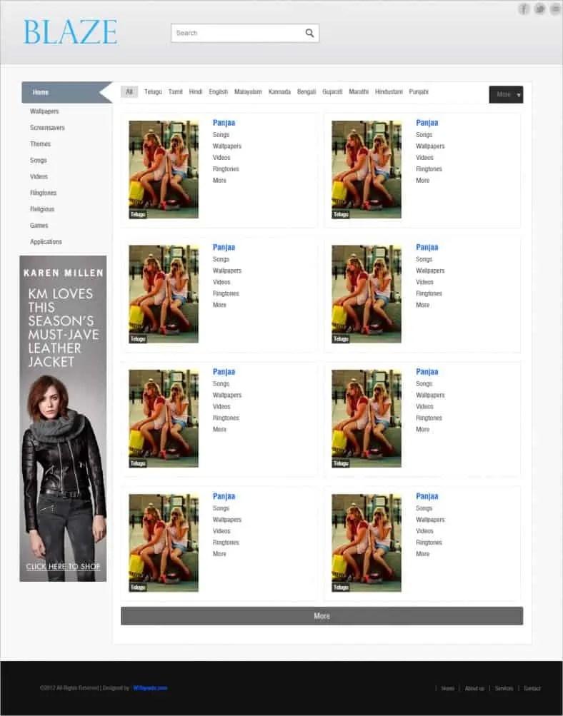 dynamic website template 5674