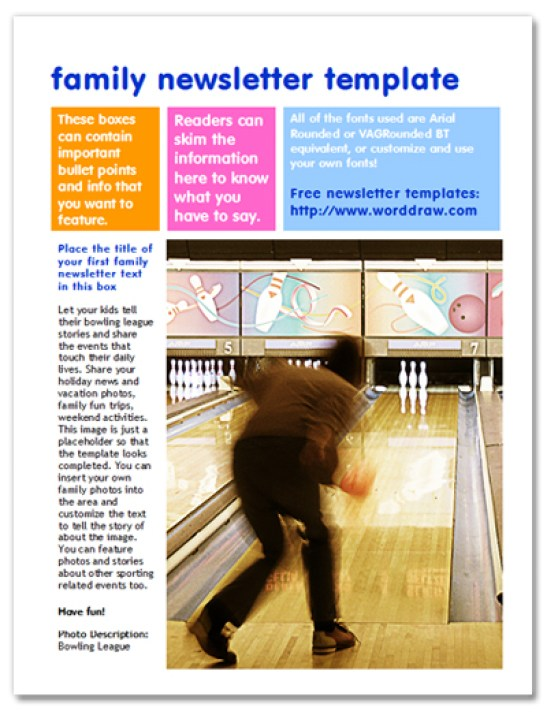 family newsletter template 565