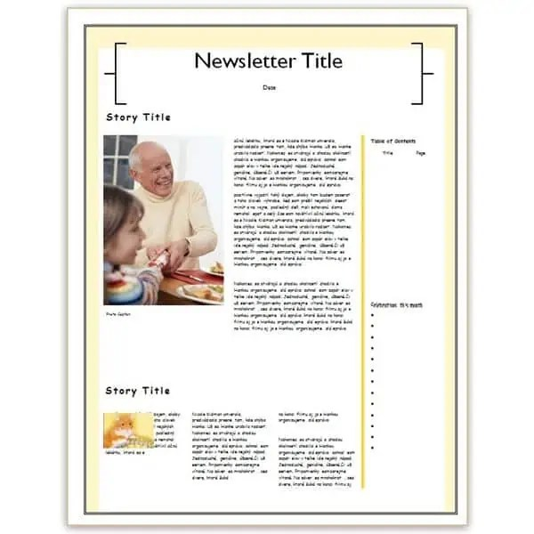 family newsletter template 6946