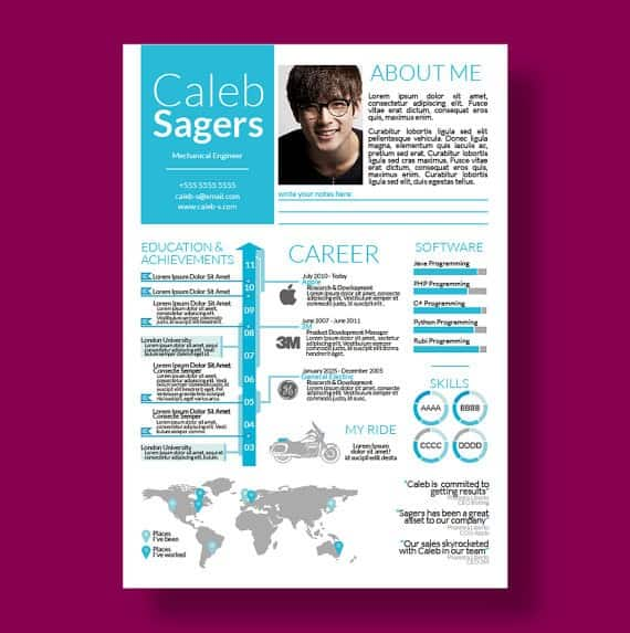 infographic cv template 697