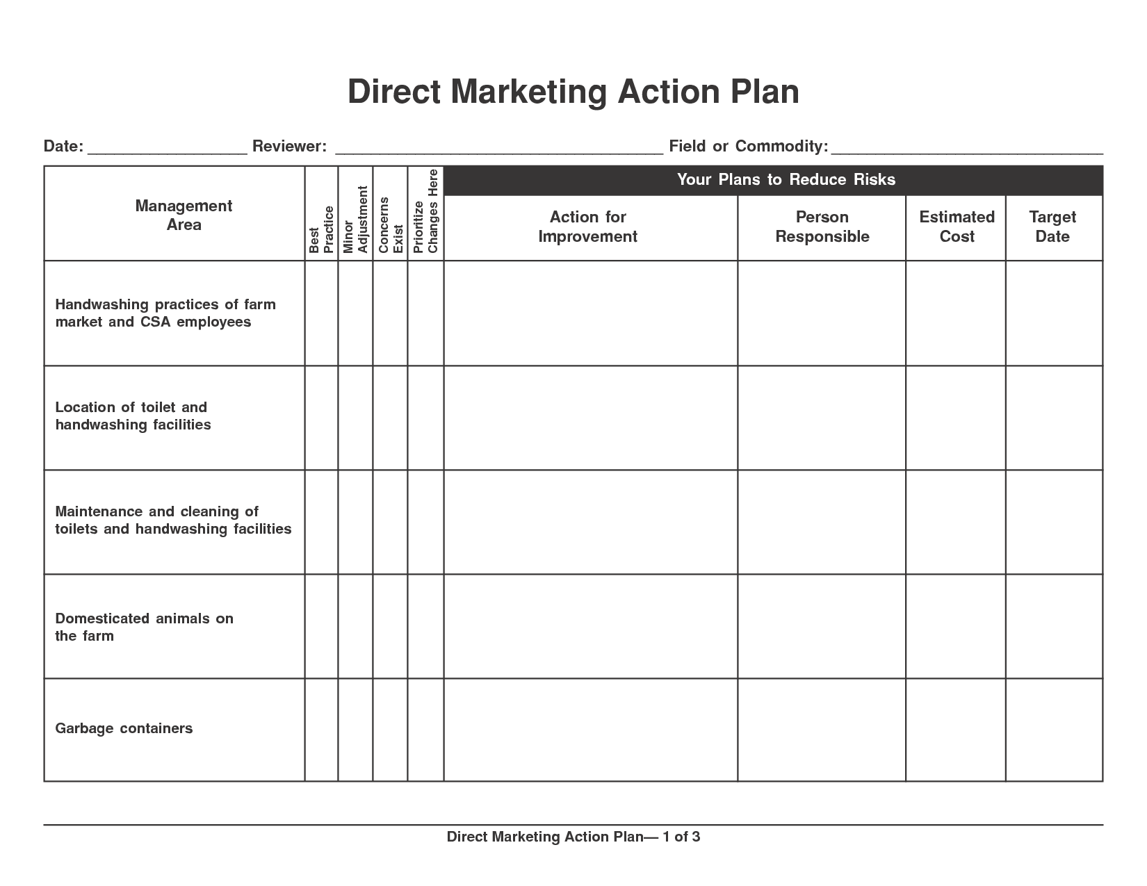 6 marketing action plan templates excel website for Publicity plan template