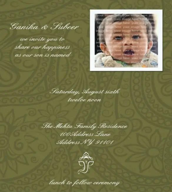 naming ceremony invitation 364