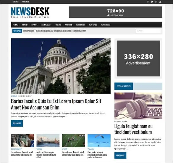 news templates for blogger 164