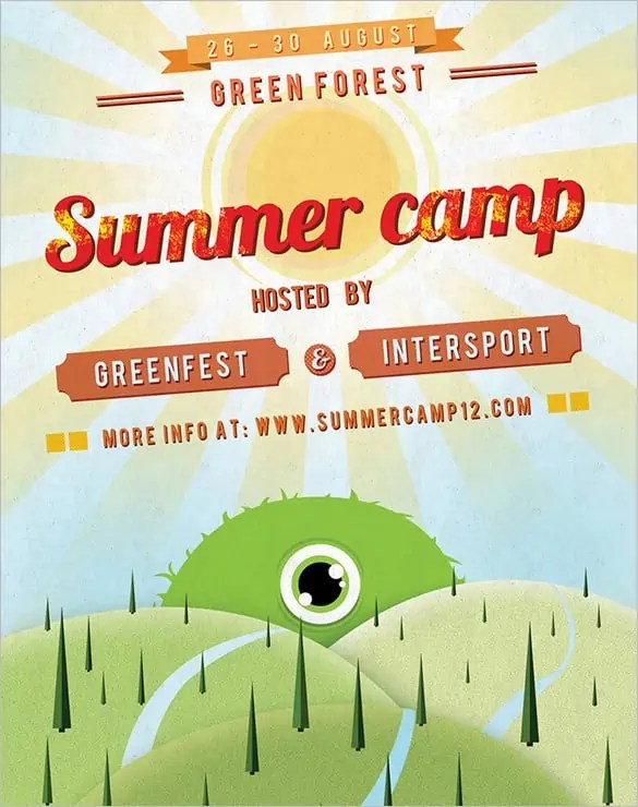 summer camp flyer template 550