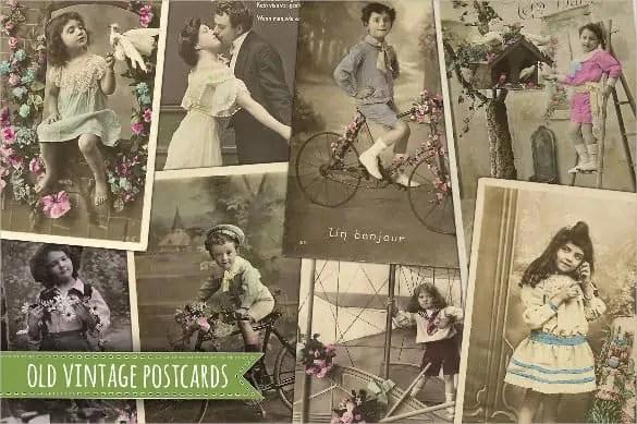 vintage postcard template 220