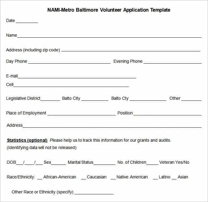 volunteer application 220