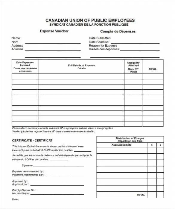 Expense Voucher Template] 12 Expense Voucher Templates Free Sample ...
