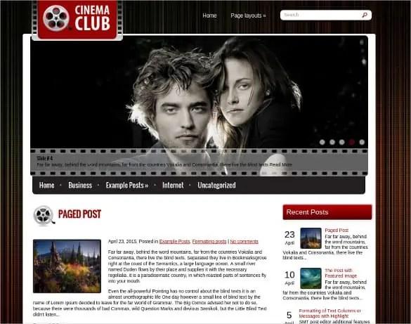 Cinema WordPress Themes 12