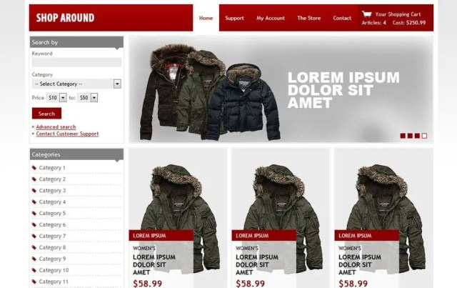 Ecommerce HTML5 Templates 92