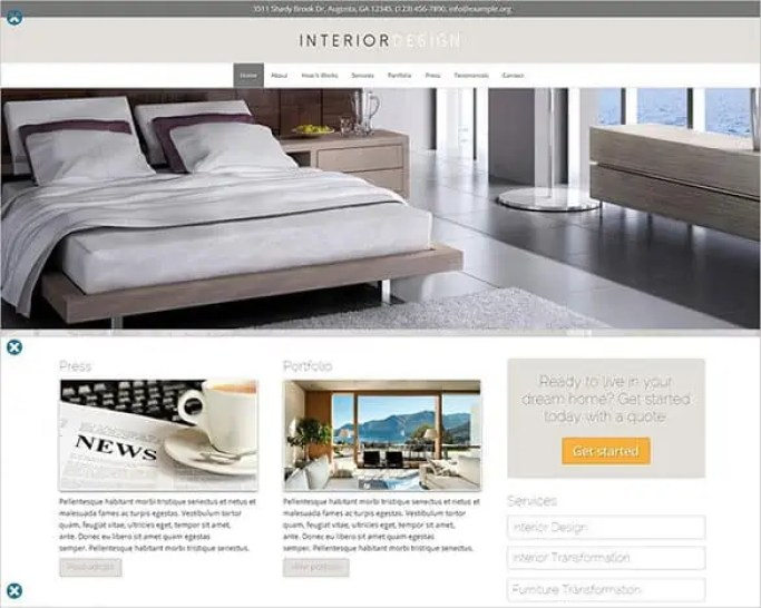 Interior Design WordPress Themes 62