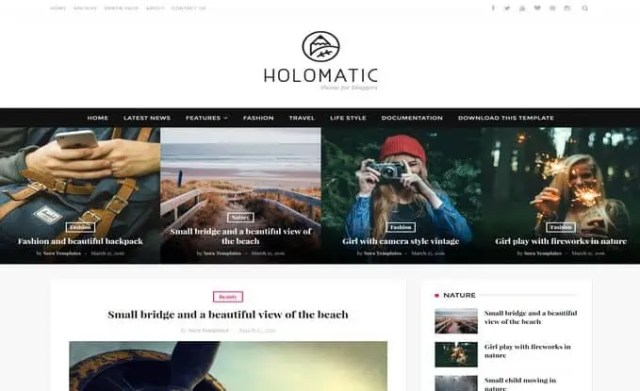 News Mag Blogger Templates 12