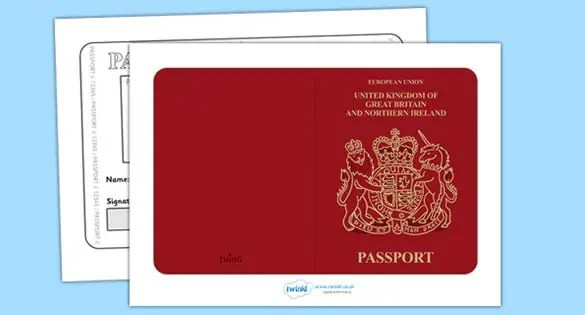passport template 12