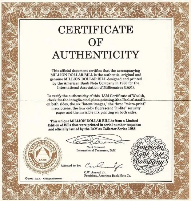 Certificate of authenticity templates word excel samples for Certificates of authenticity templates