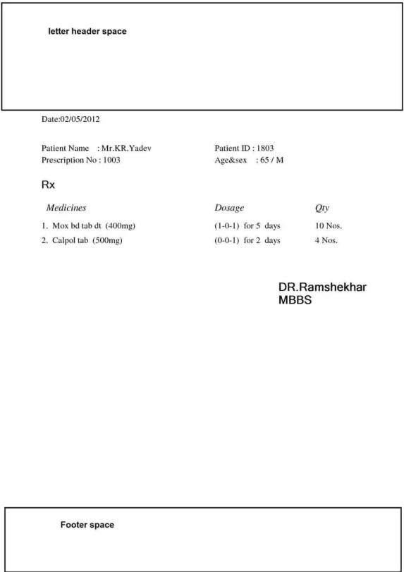 Doctor Prescription Templates - Word Excel Samples