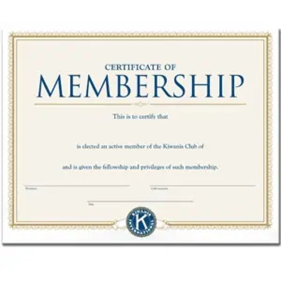 Membership Certificate Templates - Word Excel Samples