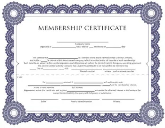 membership certificate templates word excel samples