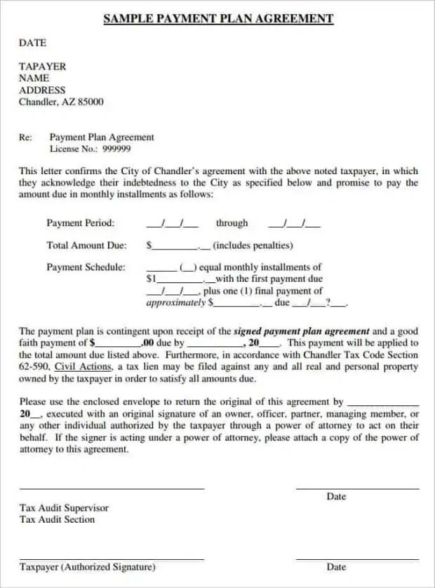 16  payment plan agreement templates