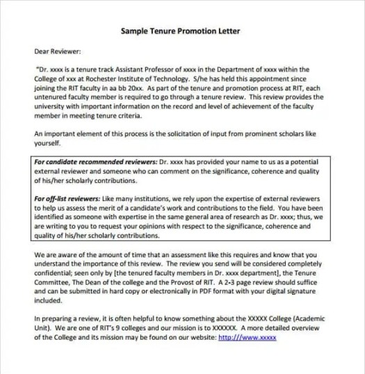 Letter For Promotion  BesikEightyCo