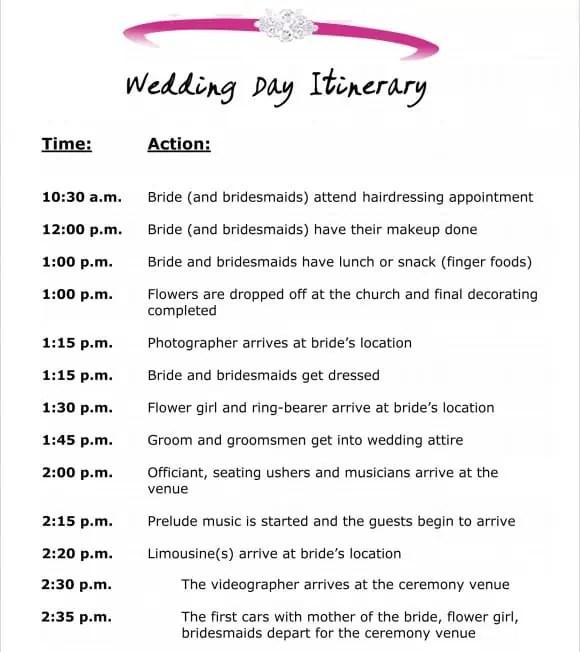 Event Schedule Template 90