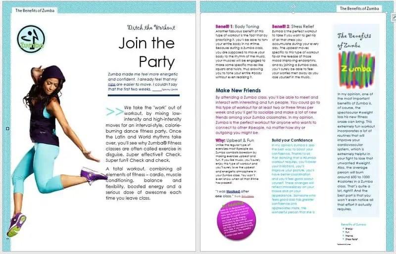 word template magazine