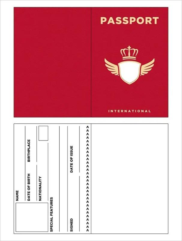 passport templates