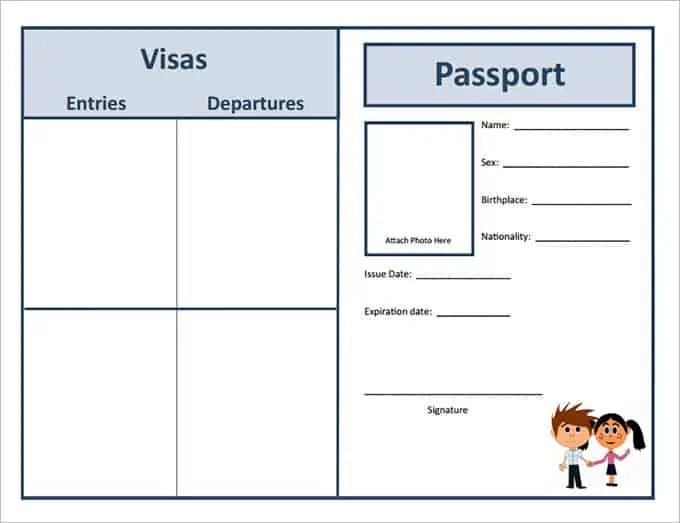 Pupil Passport Template Choice Image Template Design Ideas