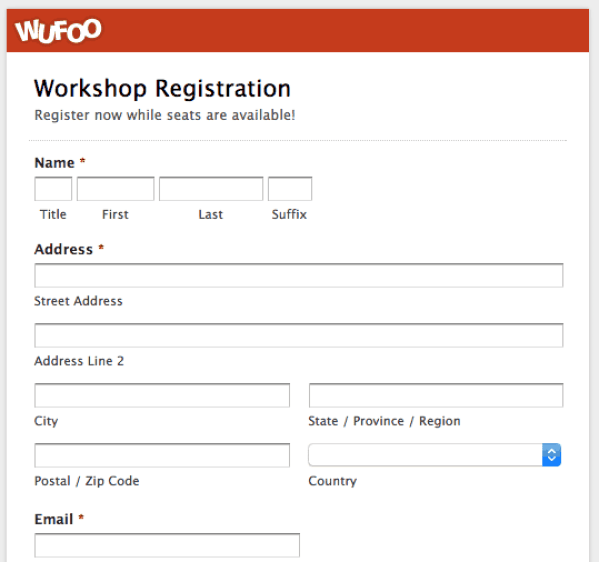 Printable registration form templates word excel samples for Event booking form template word