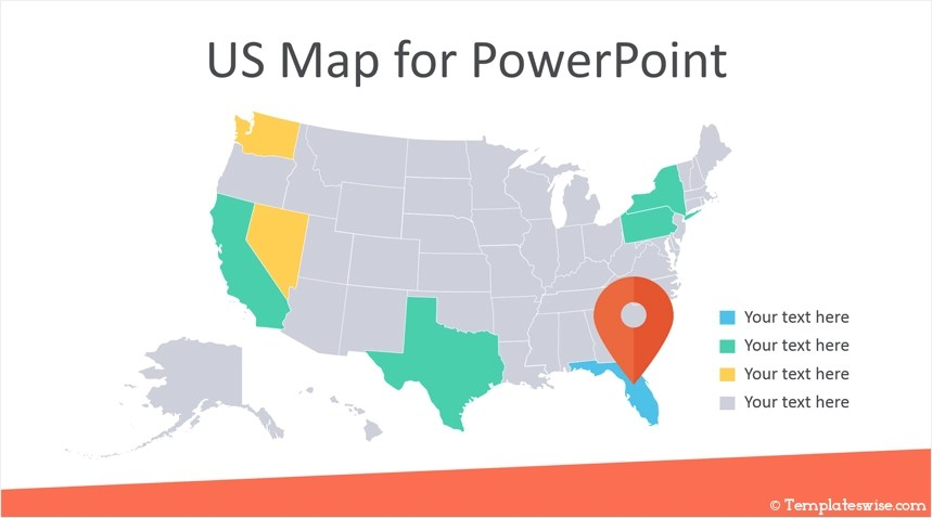 Just select the states you visited and share the map with your friends. Editable Us Map For Powerpoint Templateswise Com