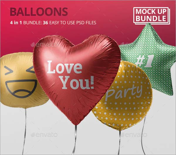 Balloon Mockup Bundle