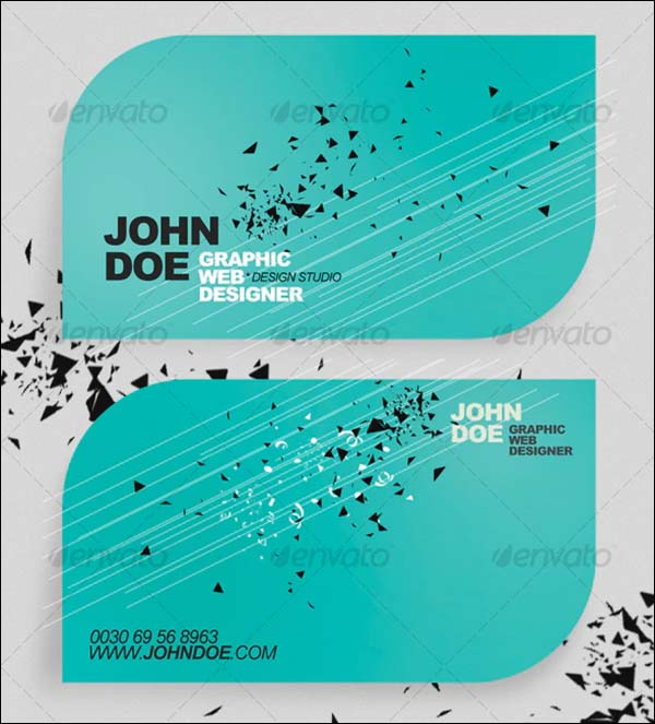 Rounded Minimalistic Business Card Templates