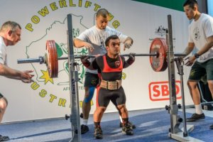 Kevin with a Big Squat at the Melbourne Powerlifting Open