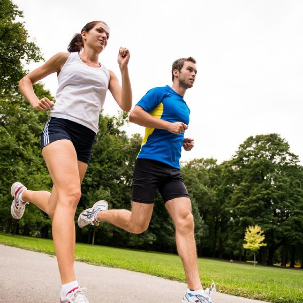 Jogging together – sport young couple