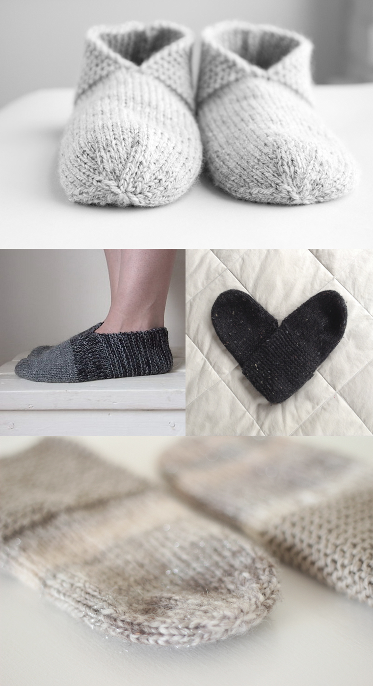 Knitted House Slippers Pattern : So many Simple House Slippers - Temple of Knit