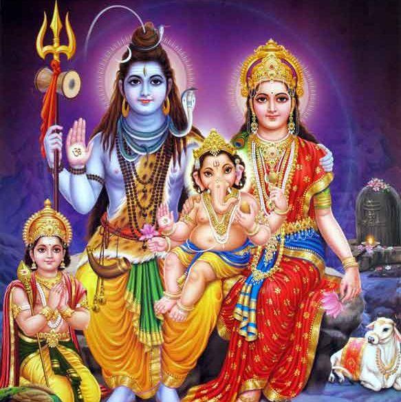 Subrahmanya, Shiva, Ganesha and Parvathi.jpg