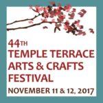 44th Temple Terrace Arts & Crafts Festival - November 11 & 12, 2017
