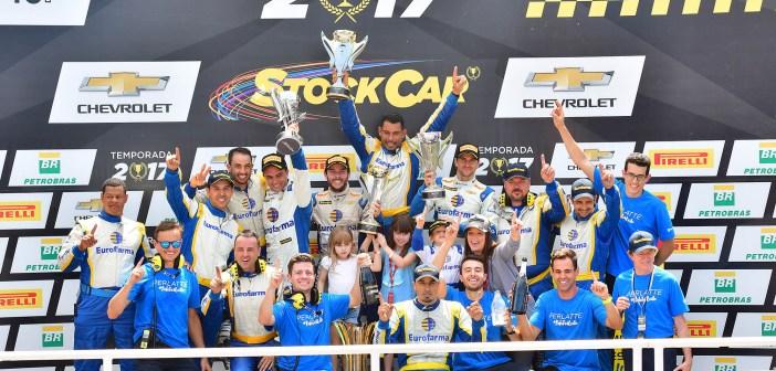 Daniel Serra é campeão da Stock Car em pódio dominado pela Eurofarma