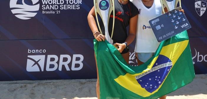 Com virada épica, brasileiras são campeãs de Grand Slam de Beach Tennis em Brasília