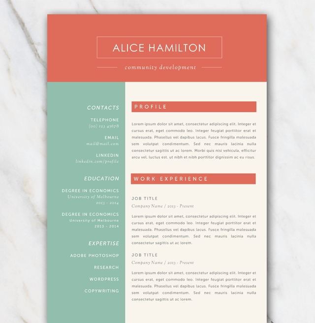 Resume Template Download Word