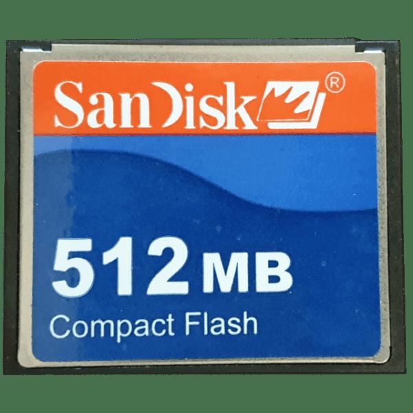 SANDISK 512 MB PCMCI COMPACT FLASH KART