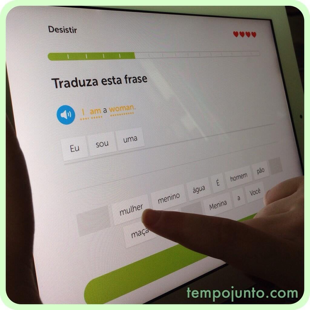 Aprenda inglês brincando – app Duolingo