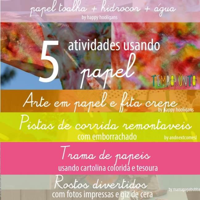 5 atividades usando papel