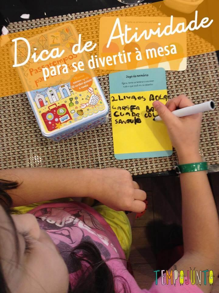 Dica de livro de atividades – Caixa de passatempos