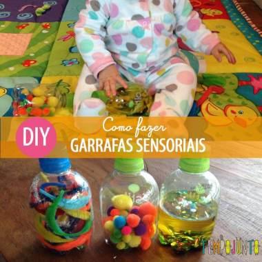 Atividade para bebês de 6 a 12 meses: garrafas sensoriais