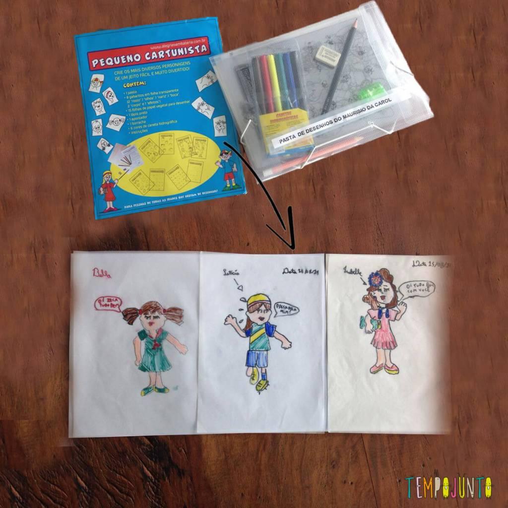 Aprenda a desenhar com o Pequeno Cartunista