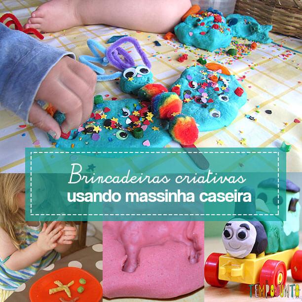 5 Ideias criativas usando massinha caseira para fazer com crianças